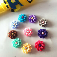 NEW 20pcs mix Resin 10mm flower flat back Scrapbooking For phone/craft/