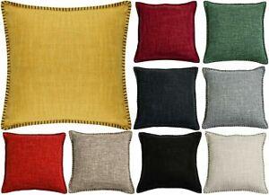 "Plain Woven Cushion Covers Reversible Stripe Scatter 17"" (43 cm) or 23"" (58 cm)"