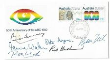 1982 ABC 50th  Anniversary FDC Signed By Queensland ABC Radio Personalities