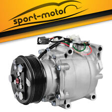 1X AC Compressor with Clutch Front A/C fit for 02-05 Honda Civic 1.7L 78613