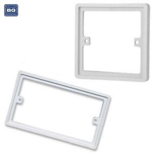 BG 10mm Single Double 1 / 2 Gang Spacer Frame Light Switch Socket Back Box Plate
