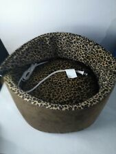 """Heated Pet Bed - Cat or Dog - Hooded 16"""" Round Leopard - 4 Watts - K & H Product"""