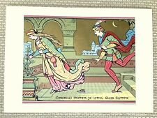 1871 Antique Print Cinderella Glass Slipper Victorian Gothic Revival Fairy Tale