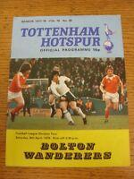 08/04/1978 Tottenham Hotspur v Bolton Wanderers [Division 2 Season] (folded, tea