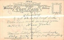 New Years Day Angel With Poem Antique Postcard V7591