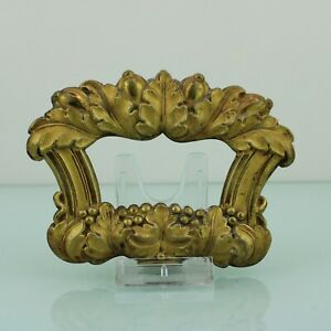 Antique Floral French Victorian gilt brass handle.