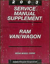 2003 Dodge RAM Van Service Handbuch Wagon B1500 B2500 B3500 Shop Reparatur