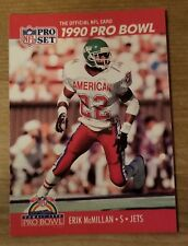 NFL Pro Set 1990 Erik McMillan Jets, Pro Bowl