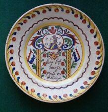 Antique Dutch Delft Plate Royal Souvenir Plate William V Prince of Orange