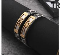 Armband Edelstahl Armreif Silber für Herren Männer Kreuz Skorpion Gold Schmuck
