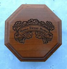 Warther's Music Box Home Sweet Home Plays Bless This House Artist Signed Lovely!