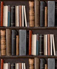 Study Books Book Shelf Case. Grandeco Library Wallpaper POB-33-01-6