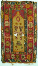 An Antique Central Anatolian Turkish Prayer Kilim Fragment from the Konya Area