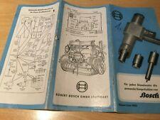 Orig. Bosch Katalog für Einspritzdüsen Ausgabe 01.1950
