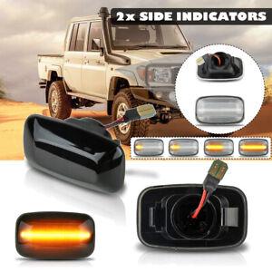 Dynamic Flowing LED Side Marker Indicator Light For Toyota Landcruiser 70 80 100
