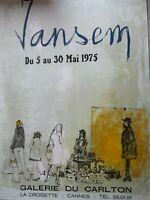 Jansem / Affiche d'exposition Galerie du Carlton 1975