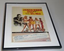 Dr No James Bond Belgium Framed 11x14 Repro Poster Set Sean Connery U Andress