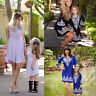 Family Matching Dress Mother Daughter Mom & Me Kid Boho Maxi Dresses Set Outfits