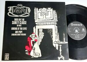 """THE DAMNED - There Ain't No Sanity Clause - UK 12"""" single ps BIG BEAT"""