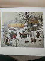 CHRISTMAS GREETING by Charles Wysocki. Limited Edition Print.
