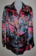 CAPTURE EUROPEAN Long Sleeve Satin Shirt Size 46 XXL Extra Extra Large