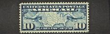 "1926 U.S. Classic Early Airmail 10 Cent Blue ""Map"" Sc#C7 M/NH/OG A Beauty"