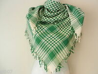 New Green White Shemagh Head Scarf Neck Wrap Arafat Keffiyah Desert Cover Shawl