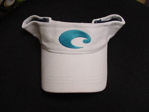 BRAND NEW COSTA DEL MAR VISOR           WHITE
