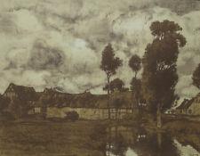 """Franz Xaver Hoch Lithographie """"Eifeldorf"""". 1903."""