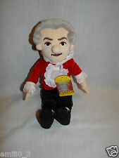 """NWT 2012 12"""" LITTLE THINKERS PLUSH AMADEUS MOZART MUSICAL COLLECTIBLE ITEM"""