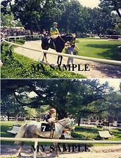2 Vintage Belmont Park 1987 Horse Racing Stakes Day Jockey Silks 8 x 10 Photos