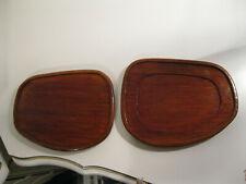 vintage 2 small wood trays
