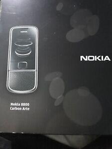 Nokia Slide 8800 Carbon Arte - Black (Vodafone) Mobile Phone