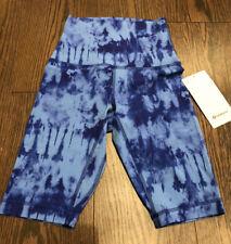 "NWT Lululemon Size 4 Align SHR Short 10"" Blue Tie Dye GABU"