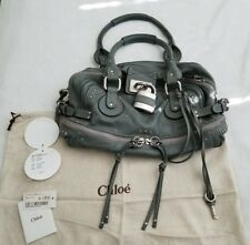 AUTHENTIC CHLOE PADDINGTON PURSE, VERY GOOD CONDITION, MOUSE GREY