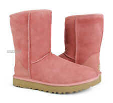 UGG Classic Short II Chemise Pink Suede Fur Boots Womens Size 8 *NIB*