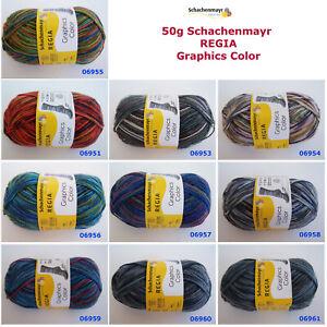 50g (5,00€/100g) Schachenmayr REGIA Sockenwolle Graphics Color 4-fädig 4-fach