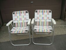 Vintage Webbed Aluminum Lawn Chairs