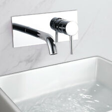 Waterfall Bathroom Taps Wall Mounted Bath Tap Chrome Basin Sink Mixer Faucet