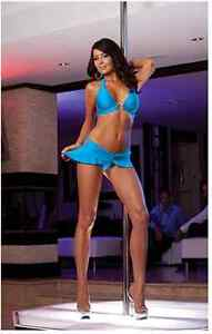 Dreamgirl top skirt and attatched thong set