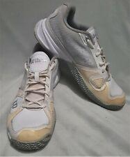 Size 8 eu 42 mens WILSON Endofit 2D-FS tennis shoes lace up white cream