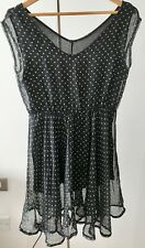 Black Long Blouse with Heart details - Size S (UK 6)