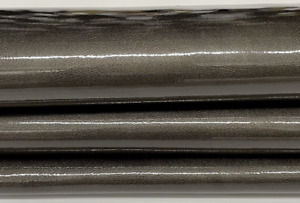 PATENT PEARLIZED TAUPE Upholstery CALF cow Leather skin 12+sqf 1.2mm #P14