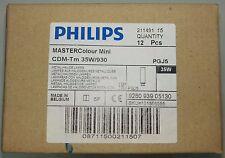 12 Philips CDM-TM 35W/930 MASTERCOLOUR 211491 metal halide LIGHT BULBS LAMP PGJ5