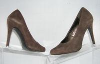 Jessica Simpson 'Elroy' suede leather brown silhouette pump heel shoe women 6B
