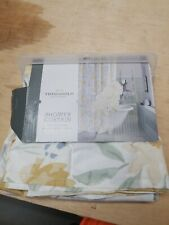 Threshold Floral Yellow / Blue Fabric Shower Curtain 72 x 72