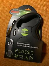 LM Flexi New Classic Retractable Tape Dog Leash - Black Large - 26' NEW