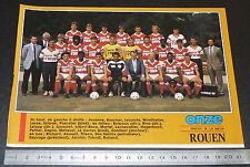 CLIPPING POSTER FOOTBALL 1987-1988 D2 FC ROUEN DIABLES ROUGES ROBERT-DIOCHON
