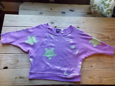 HARD CANDY Junior Shirt Loose Purple Sweater Top Sequin w/ Stars Large 11 13