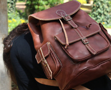 Womens leather backpack  | Moroccan bag |